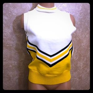 Sweaters - Cheerleading yellow (gold) black and white top